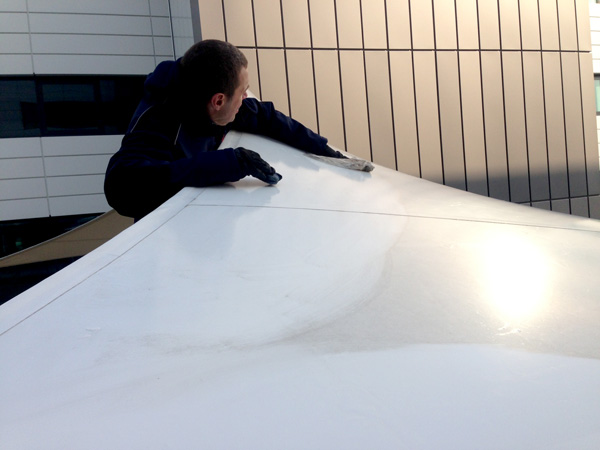 Cleaning a Fabric Structure